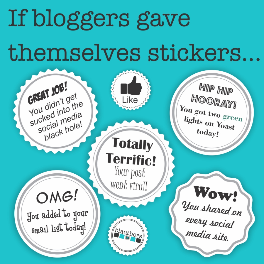 If bloggers gave themselves stickers
