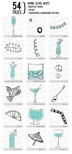 Cute Drinks Digital Clipart