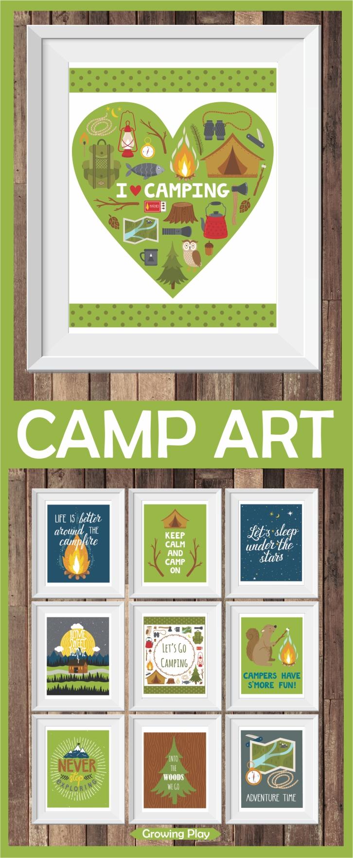 Camp Art Prints Digital Download