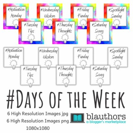 Hashtags Days of the Week Square Image