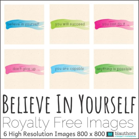 Believe in Yourself Motivational Square Images