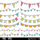 Cute Bunting Digital Clipart