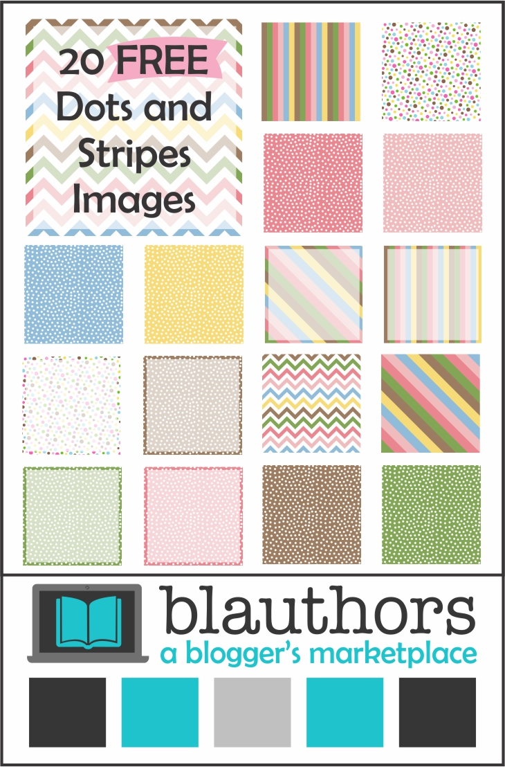 Colorful Dots and Stripes FREE from blauthors