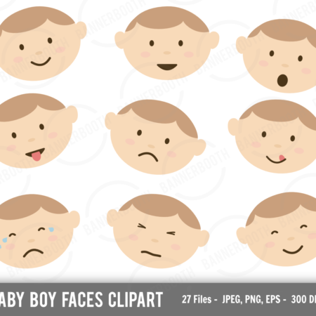 Cute Baby Boy Clipart