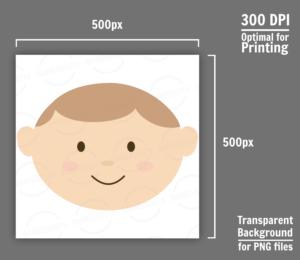 Cute Baby Boy Face Clipart