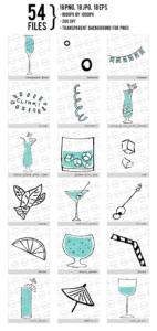 Cute Drinks Digital Clipart
