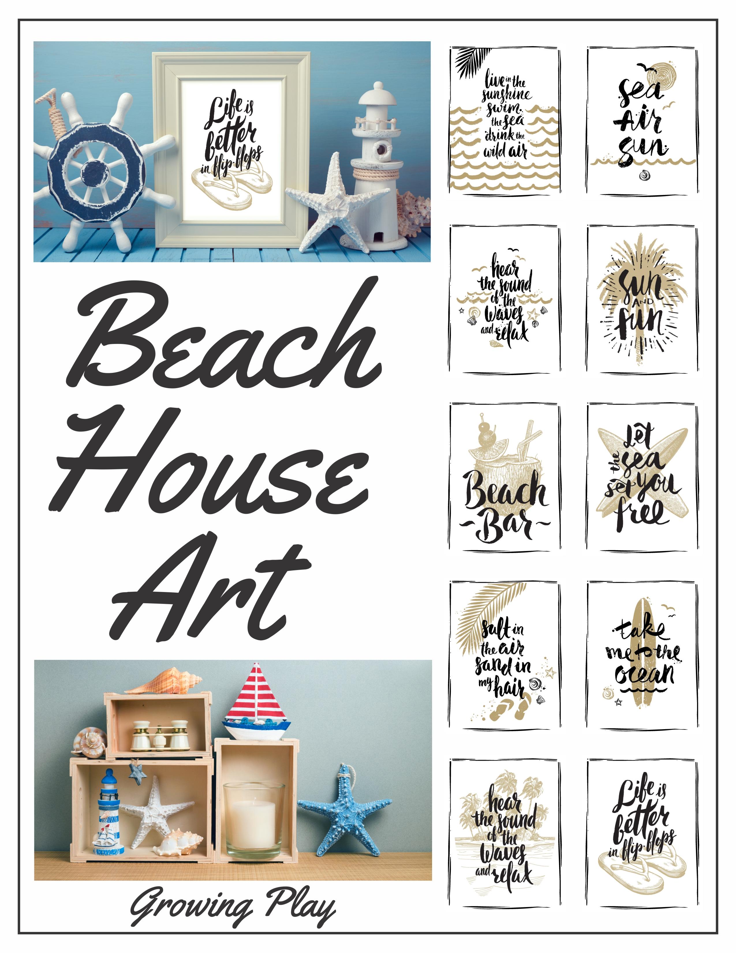 Beach Art Prints Digital Download