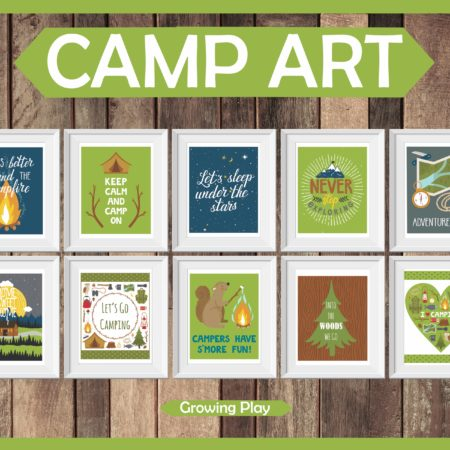 Camp Art Prints Digital Download