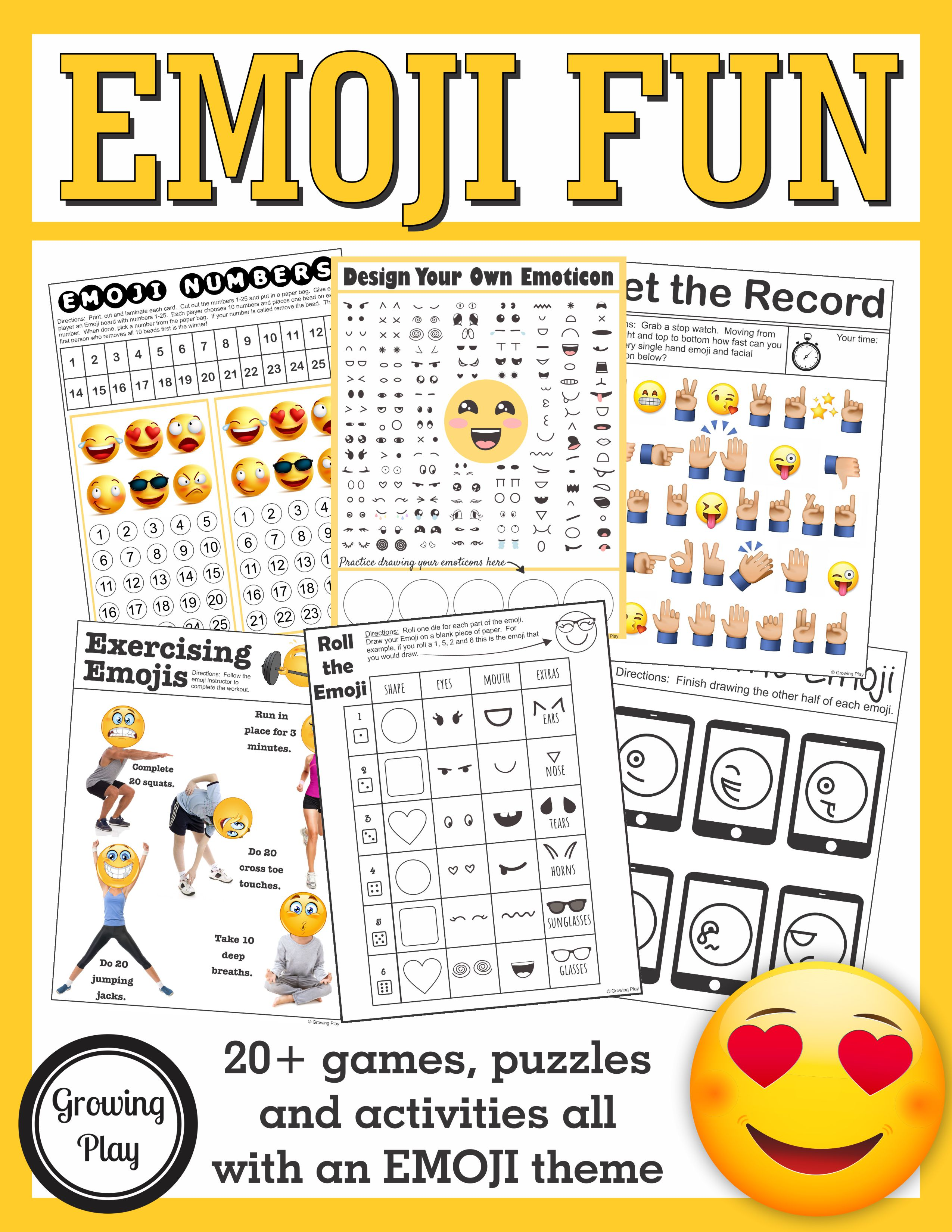 Emoji Games and Puzzles Packet