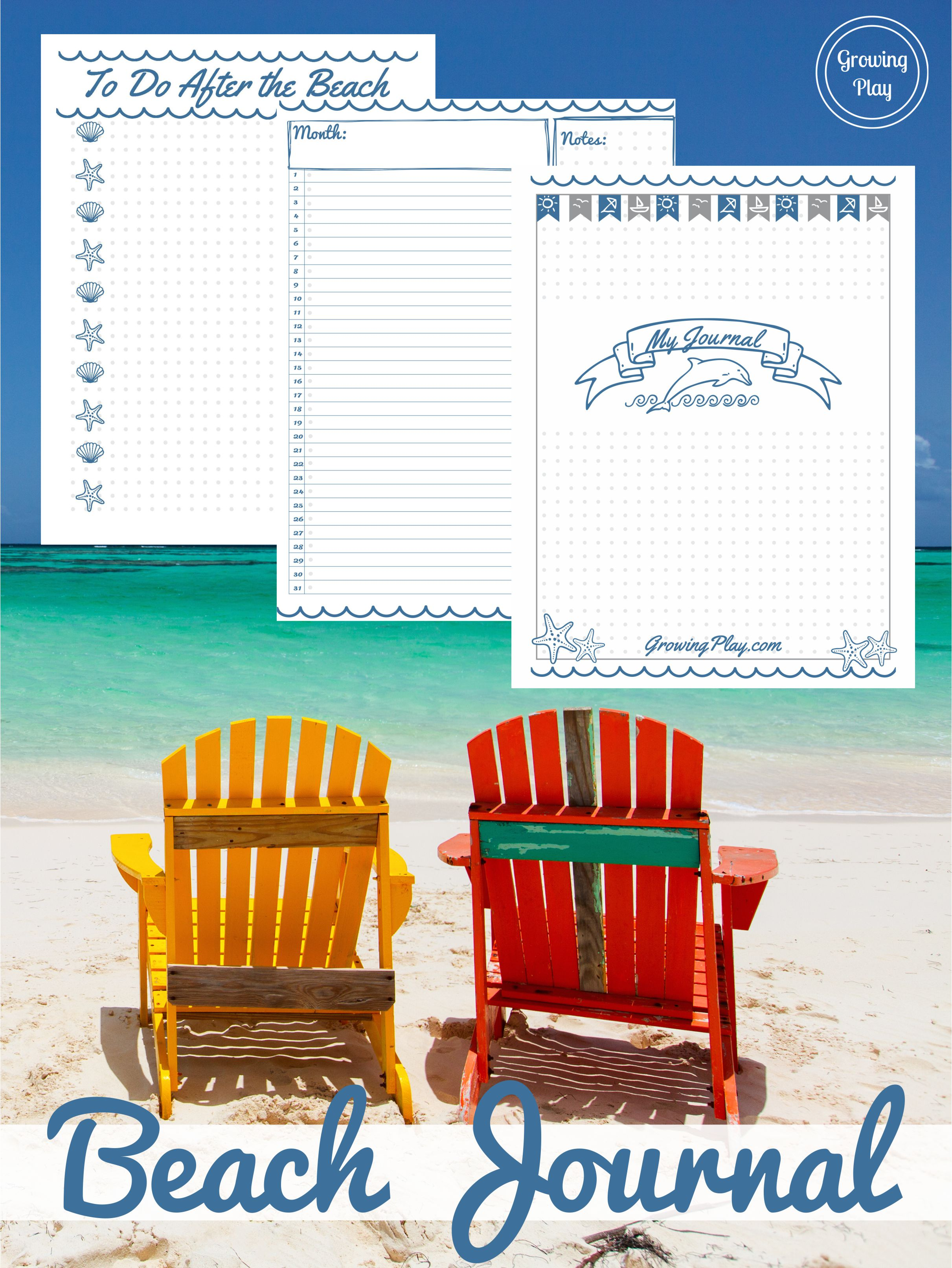 Beach Bullet Journal