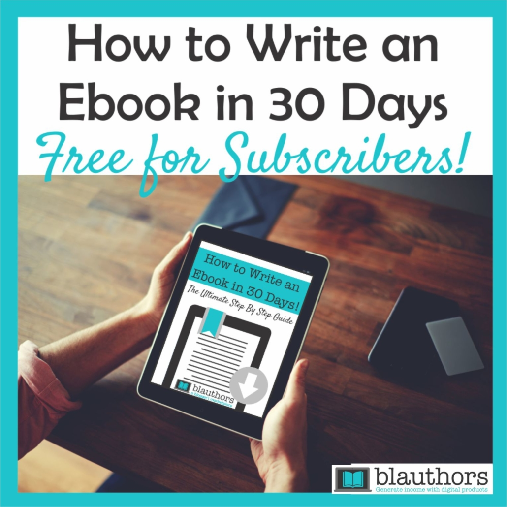 Free ebook template - How to Write and Ebook in 30 days