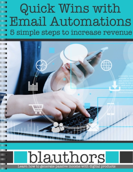 Are you looking to earn more money from your evergreen digital product sales? The Quick Wins with Email Automation Workbook will walk you through the 5 steps on this easy and profitable way to increase revenue.